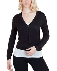 Agiato Button Front Short Cardigan Navy Sweaters