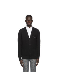 Givenchy Black And White Wool Oversized Cardigan