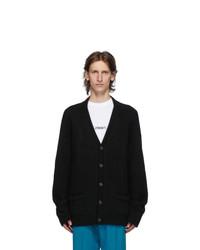 Vetements Black Five Button Cardigan