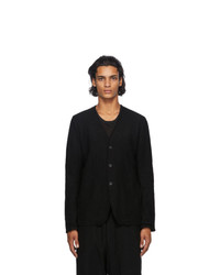 The Viridi-anne Black Wool Cardigan