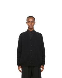 Lemaire Black Wool Hairy Oversized Cardigan