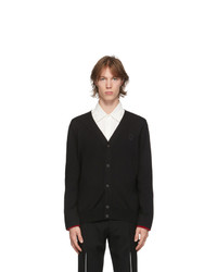 Alexander McQueen Black Wool Scarlet Cardigan