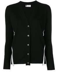 Contrast trim buttoned cardigan medium 4395627