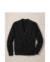 Eddie Bauer Sportsman Cottoncashmere Cardigan Sweater Sweater Black M Regular