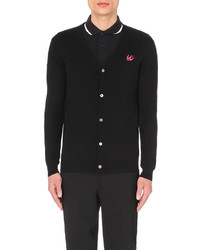 McQ by Alexander McQueen Mcq Alexander Mcqueen Swallow Embroidered Wool Cardigan