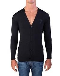 Versace Medusa Head Cardigan Sweater Black