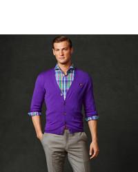 Ralph Lauren Purple Label Merino Wool V Neck Cardigan | Where to ...