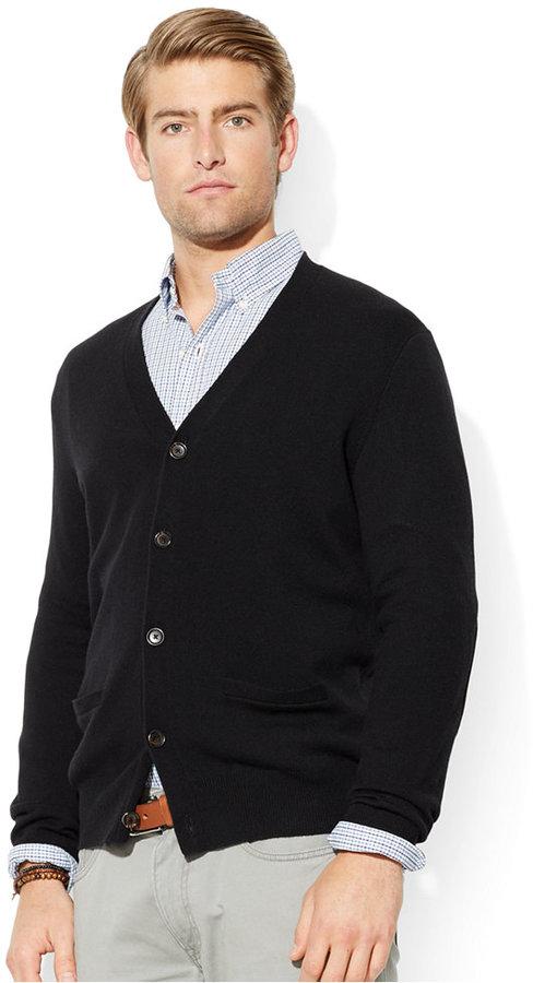 e86c8a6d9 ... Black Cardigans Polo Ralph Lauren Merino Wool V Neck Cardigan ...