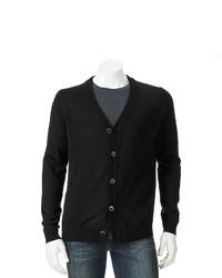 Apt. 9 Modern Fit Solid Merino Cardigan Sweater
