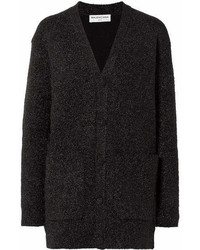 Balenciaga Oversized Lurex Cardigan Black