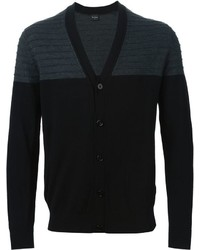 Paul Smith Ps Ribbed Panel Cardigan