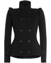 Alexander McQueen Structured Cardigan With Wool And Cashmere