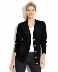 Tory Burch Simone Merino Cardigan Black Small