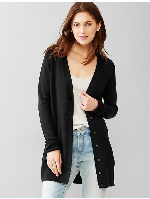 Gap V Neck Side Slit Cardigan | Where to buy & how to wear
