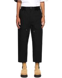 Sacai Black Cotton Cargo Pants