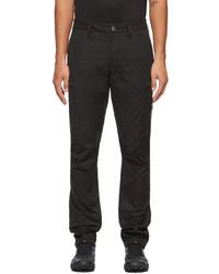 Stone Island Black Cotton Twill Cargo Pants
