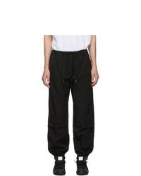Marcelo Burlon County of Milan Black Cross Pocket Cargo Pants