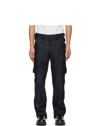 Youths in Balaclava Black Denim Cargo Pants