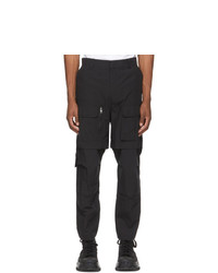 Juun.J Black Detachable Knee Cargo Pants