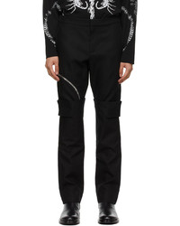 Givenchy Black Layered Effect Trousers