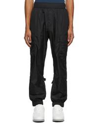 Valentino Black Nylon Cargo Pants