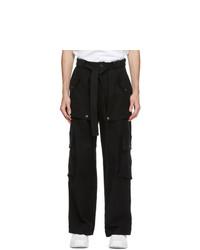 Kenzo Black Oversized Cargo Trousers