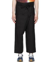 Loewe Black Paulas Ibiza Linen Cotton Cargo Pants