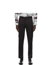 Brioni Black Silk Twill Cargo Pants
