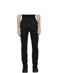 Stone Island Black Slim Cargo Pants