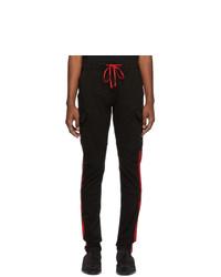 Amiri Black Stack Track Cargo Pants