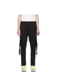 Amiri Black Sweat Cargo Trousers