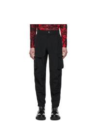 Givenchy Black Taffeta Cargo Pants