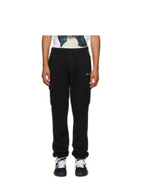 Off-White Black Terry Cargo Pants