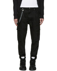 Black twill cargo pants medium 779305