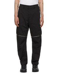 Stone Island Shadow Project Black Zip Vent Trousers