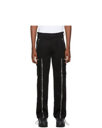 Palm Angels Black Zipped Cargo Pants