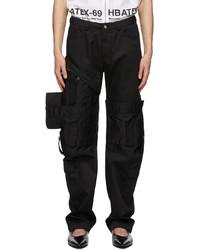 Hood by Air Black Zippered Cargo Pants