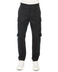 Alexander McQueen Cargo Pants With Velvet Flaps Black