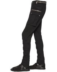 Balmain Cotton Jersey Cargo Pants W Bands