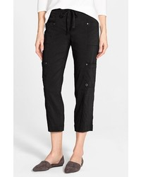 Eileen Fisher Crop Linen Blend Cargo Pants