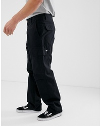 Dickies Higden Loose Fit Cargo Trouser In Black