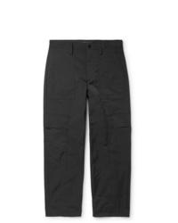 Valentino Memory Matte Satin Twill Cargo Trousers