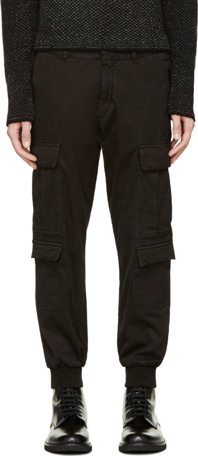 Neil Barrett Black Knit Cuff Cargo Pants | Where to buy & how to wear