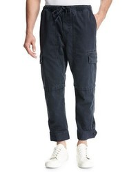 Vince Relaxed Vintage Cotton Cargo Pants Black