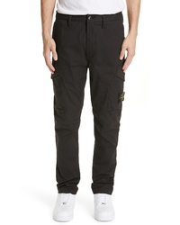 Stone Island Tapered Cargo Cotton Blend Pants