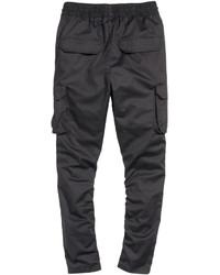 74bff073a1 H&M Twill Cargo Pants Black, $29   H & M   Lookastic.com