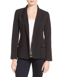 Cupcakes And Cashmere Alivia Stretch Crepe One Button Blazer