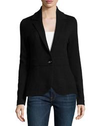 Neiman Marcus Cashmere Blazer Jacket Black