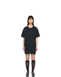Raquel Allegra Black T Shirt Dress