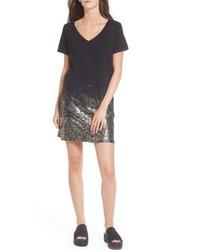 Foil detail t shirt dress medium 5361359